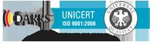 DAkkS UNICERT ISO 9001:2008